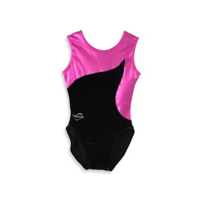 Obersee Size X-Small Kids Gymnastics Leotard in Pink Flow