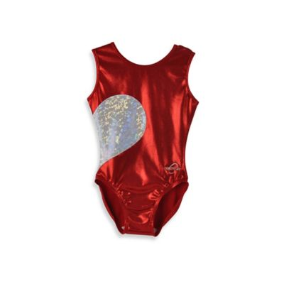 Obersee Size XX-Small Kids Gymnastics Leotard in Red Heart
