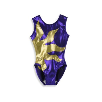 Obersee Size XX-Small Kids Gymnastics Leotard in Purple Sun