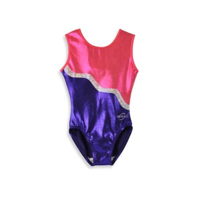 Obersee Size X-Small Kids Gymnastics Leotard in Purple Ribbon