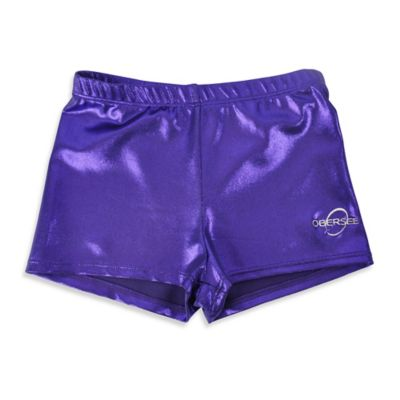 Obersee Size XX-Small Kids Gymnastics Shorts in Purple