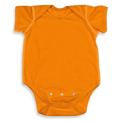i play.® Brights Size 0-3M Organic Cotton Short-Sleeve Adjustable Bodysuit in Orange