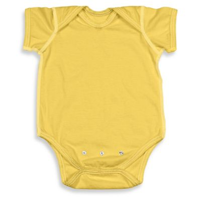 i play.® Brights Size 18-24M Organic Cotton Short-Sleeve Adjustable Bodysuit in Yellow
