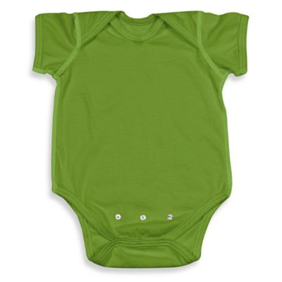 i play.® Brights Size 18-24M Organic Cotton Short-Sleeve Adjustable Bodysuit in Olive