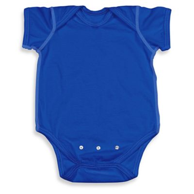 i play.® Brights Size 0-3M Organic Cotton Short-Sleeve Adjustable Bodysuit in Royal Blue
