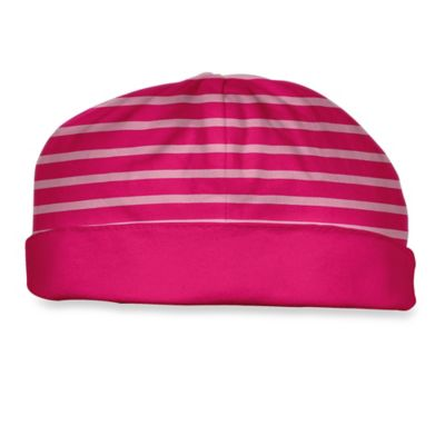 i play.® Brights Size 0-3M Organic Cotton Reversible Twist Cap in Fuchsia