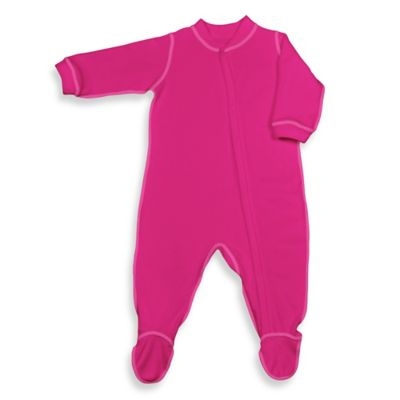 i play.® Brights Size 3-6 M Long-Sleeve Knitted Terry Footie in Fuchsia