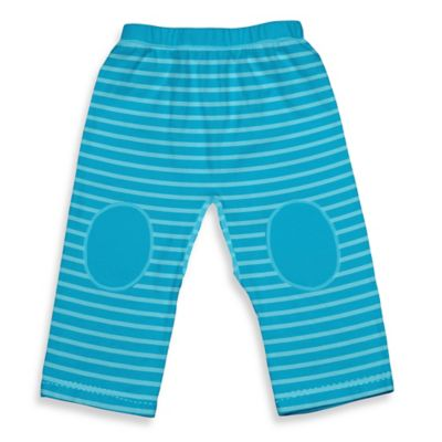 i play.® Brights Size 18M Organic Cotton Yoga Pants in Aqua Stripe