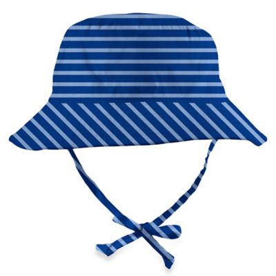 i Play.® Size 0-6M Organic Cotton Bucket Sun Protection Hat in Blue