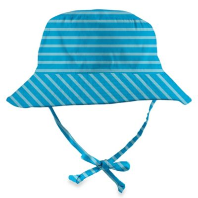 i Play.® Size 6-18M Organic Cotton Bucket Sun Protection Hat in Aqua