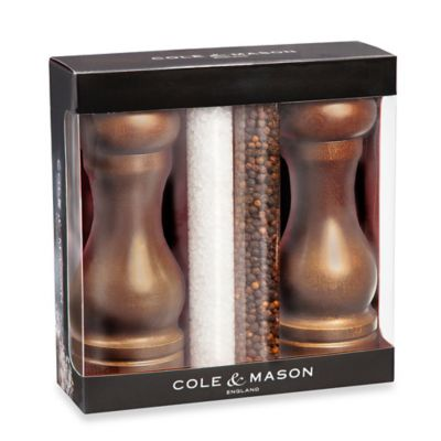 Brown Salt and Pepper Mill Set