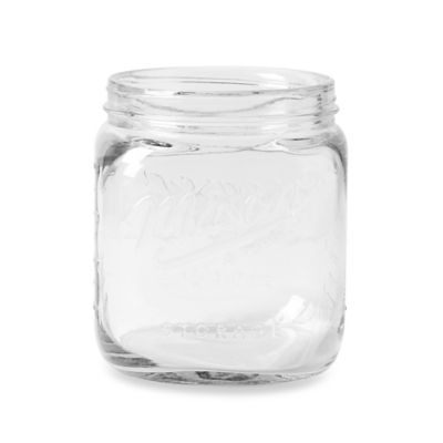 Clear Glass Mason Untensil Crock