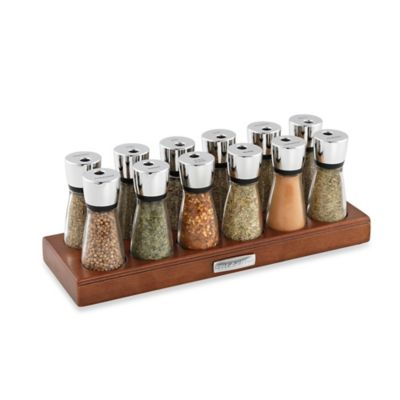Cole & Mason 12-Jar Wooden Spice Rack