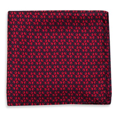 Star Wars™ Silk Rebel Pocket Square in Navy/Red
