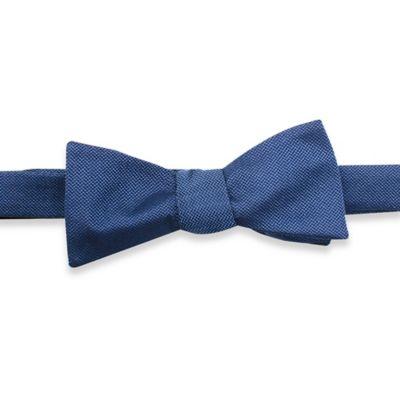 Silk Woven Self-Tie Bowtie in Blue