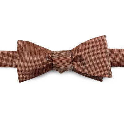 Cotton Woven Self-Tie Bowtie in Brown