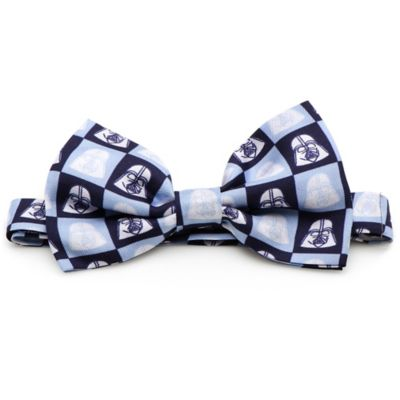 Star Wars™ Silk Darth Vader Tile Bow Tie in Navy/Light Blue