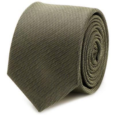 Silk Skinny Tie in Green