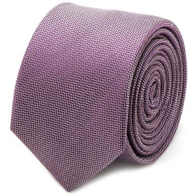 Silk Skinny Tie in Lavender
