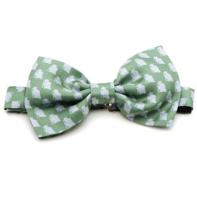 Star Wars™ Silk Yoda Bow Tie in Green/Grey
