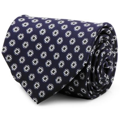 Star Wars™ Silk Imperial Crest Tie in Navy