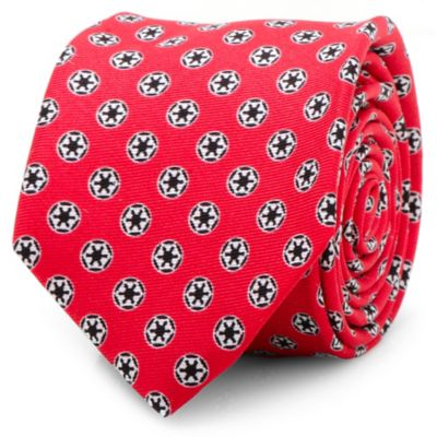 Star Wars™ Silk Imperial Crest Skinny Tie in Red