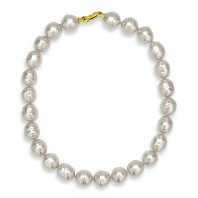 White Gold Strand Necklace