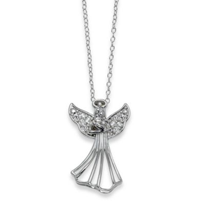Buy Sterling Silver Guardian Angel Pendant From Bed Bath