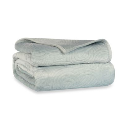 Berkshire Blanket® LoftMink™ Reversible Full/Queen Blanket in Spa Blue