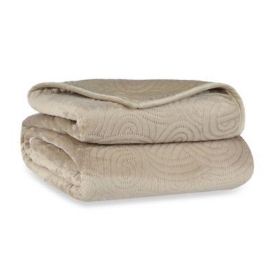 Berkshire Blanket® LoftMink™ Reversible Twin Blanket in Taupe