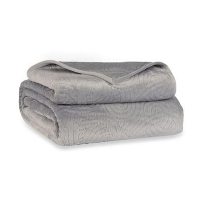 Berkshire Blanket® LoftMink™ Reversible Twin Blanket in Grey