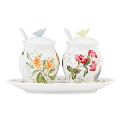 White Condiment Set