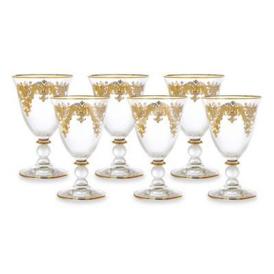 Classic Touch 4-Inch Wine Glasses (Set of 6)