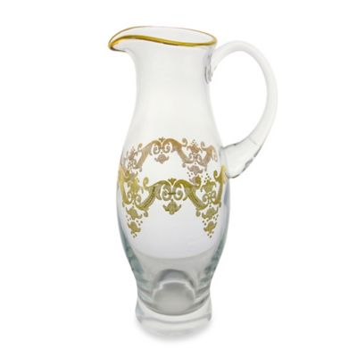 Classic Touch Glass Pitcher