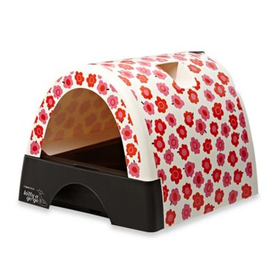 Kitty A GoGo™ Litter Box in Flower Print