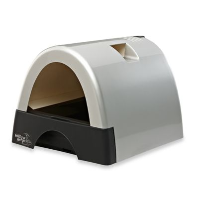 Kitty A GoGo™ Litter Box in Metallic Silver