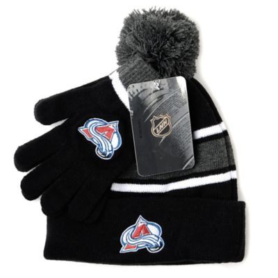 NHL Colorado Avalanche Men's Hat & Gloves Set