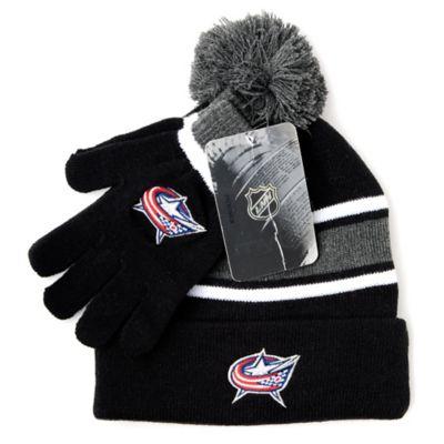 NHL Columbus Blue Jackets Men's Hat & Gloves Set