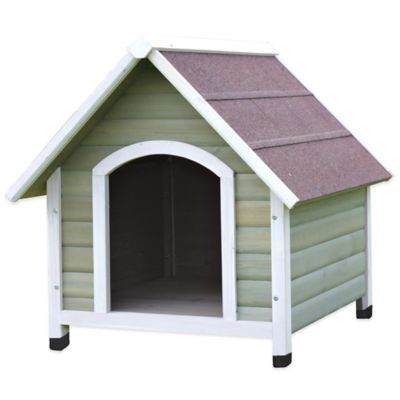 Trixie Large Nantucket Dog House in Grey/White