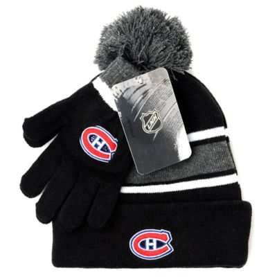 NHL Montreal Canadiens Men's Hat & Gloves Set