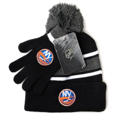 NHL New York Islanders Men's Hat & Gloves Set