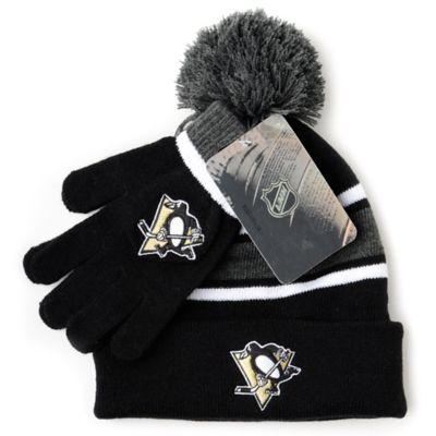 NHL Pittsburgh Penguins Men's Hat & Gloves Set