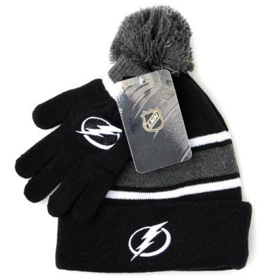 NHL Tampa Bay Lightning Men's Hat & Gloves Set