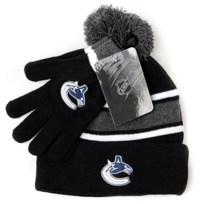 NHL Vancouver Canucks Men's Hat & Gloves Set