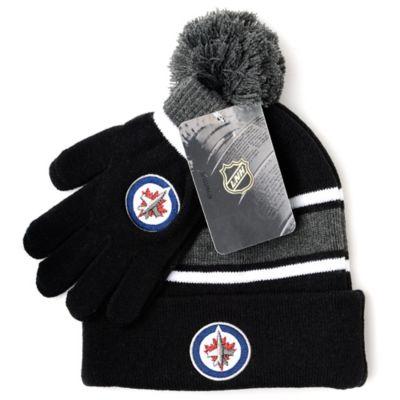 NHL Winnipeg Jets Men's Hat & Gloves Set