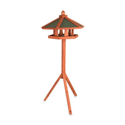 Trixie Wooden Bird Feeder Gazebo & Stand in Brown/Green