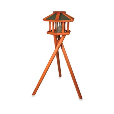 Trixie Deluxe Wooden Bird Feeder Gazebo & Stand in Brown/Green