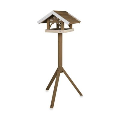 Trixie Nantucket Wooden Bird Feeder & Stand in Brown/White