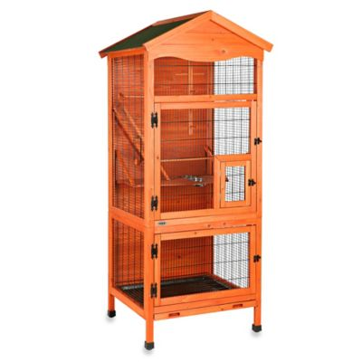 Trixie 3-Door Natura Aviary Bird House