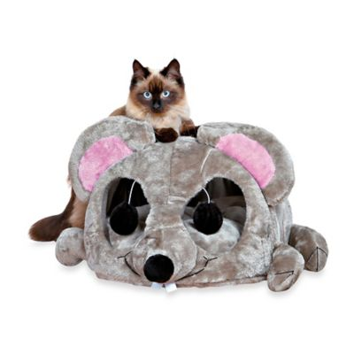 Trixie Plush Lukas Cuddly Cat Cave in Grey